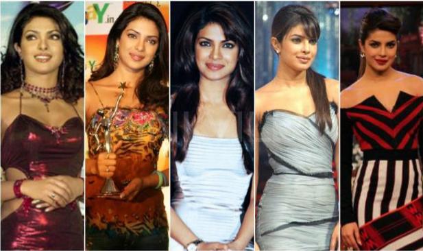 L'évolution look de Priyanka Chopra