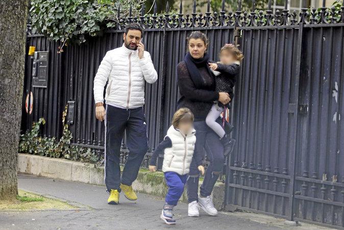 Cyril Hanouna, sa femme Emilie et leurs enfants