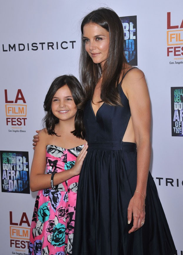 Katie Holmes et Bailee Madison lors de la première du film Don't Be Afraid of the Dark.
