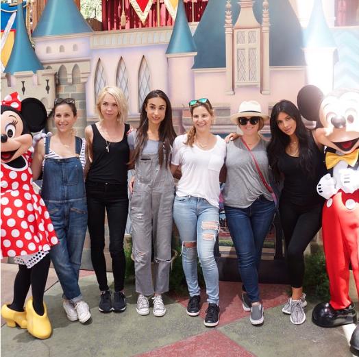 Kim Kardashian et ses copines le 15 juin 2015