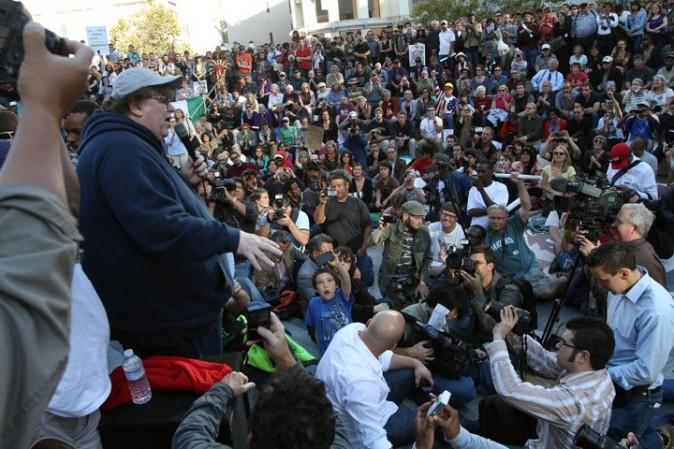 La foule des indignés...