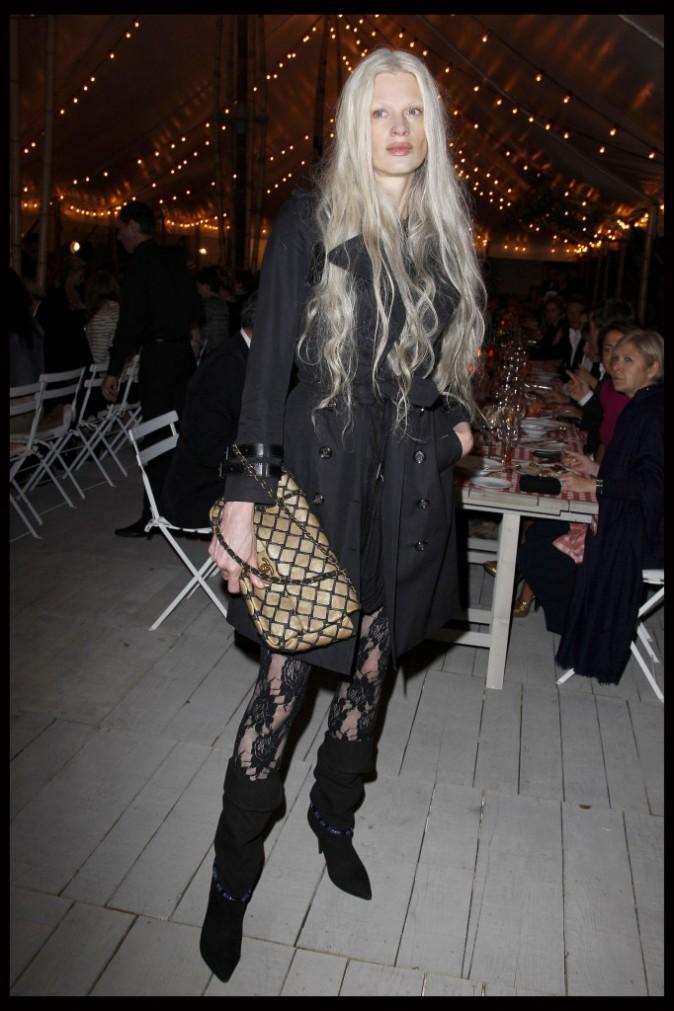 Kristen McMenamy lors du dîner Chanel en l'honneur de Karl Lagerfeld à Antibes, le 8 mai 2011.