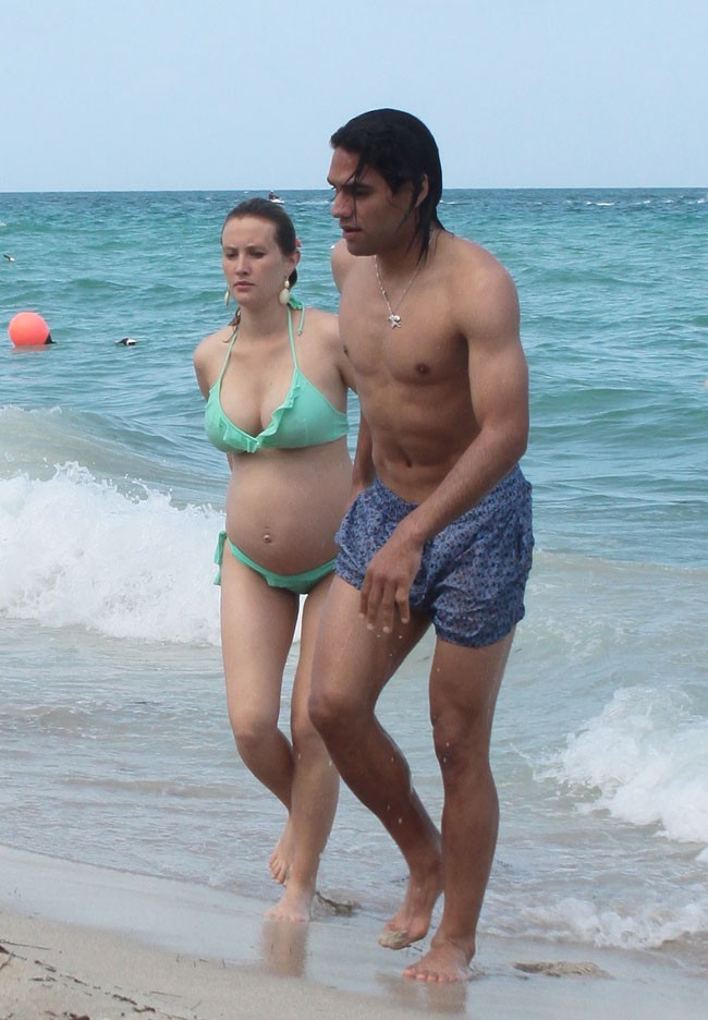 Radamel Falcao et sa femme Loreleil Taron à Miami le 19 juin 2013