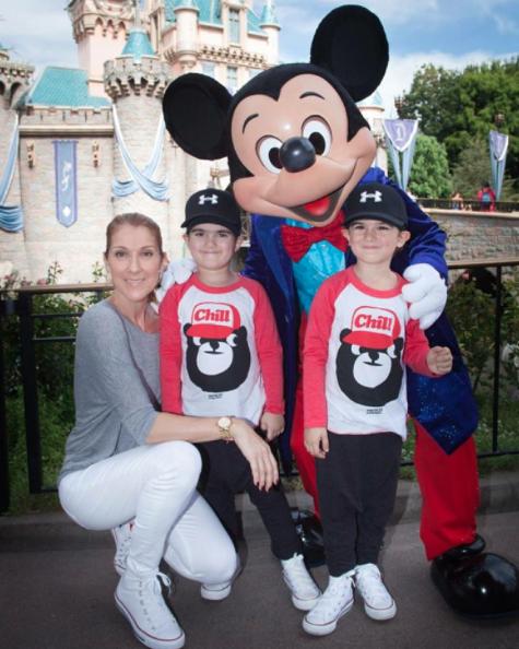Céline Dion, Eddy et Nelson à Disneyland