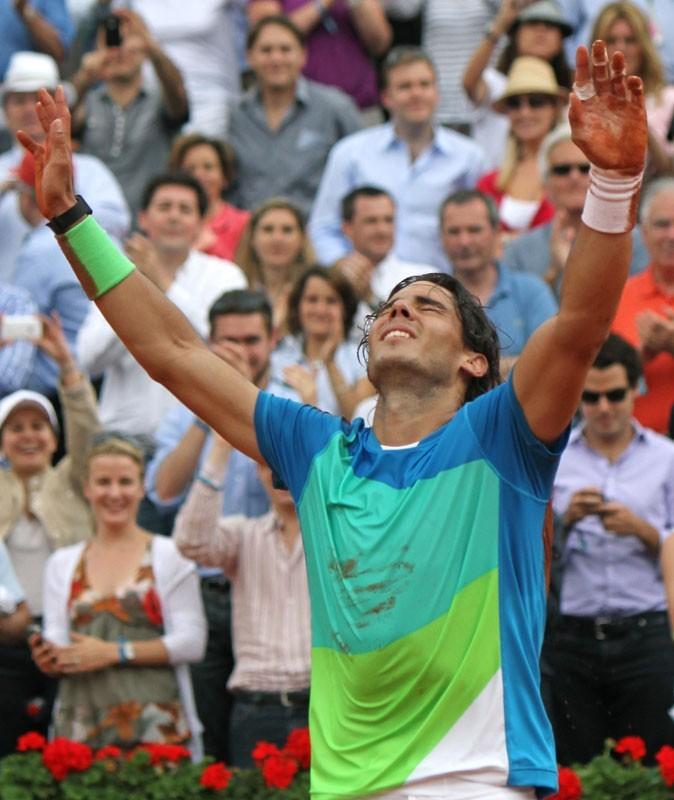 Rafael Nadal à Roland Garros en 2010