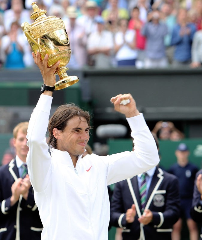 Rafael Nadal au tournois de Wimbledon en 2010