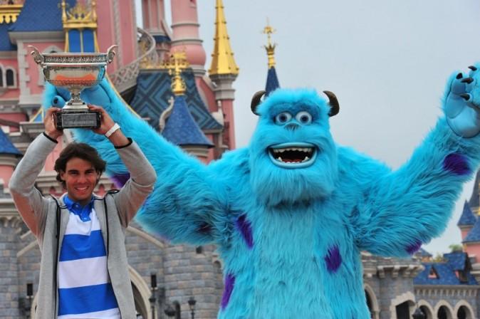 Rafael Nadal à Disneyland Paris le 10 juin 2013