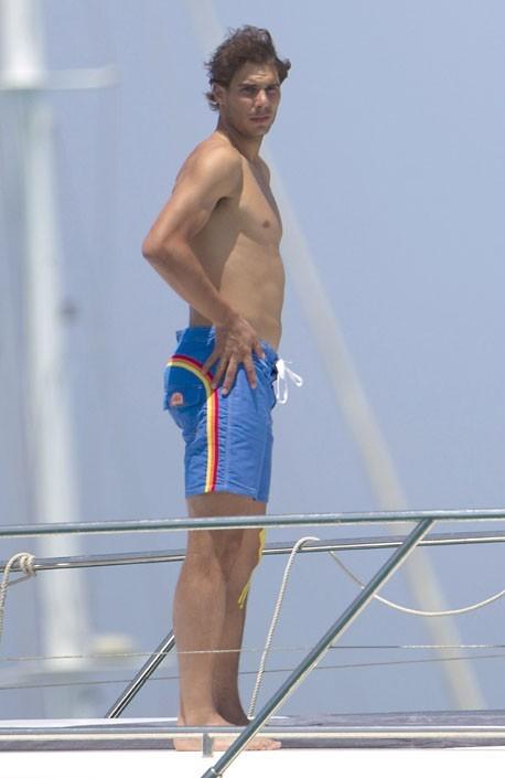 Rafael Nadal en vacances à Ibiza le 28 juin 2013