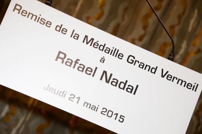 Rafael Nadal décoré à la mairie de Paris le 21 mai 2015