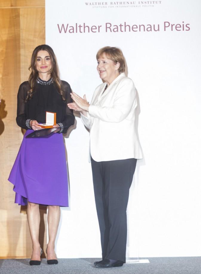 Rania de Jordanie à Berlin le 17 septembre 2015
