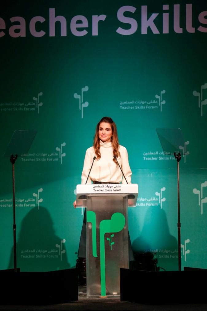 Photos : Rania de Jordanie : toujours aussi remarquable et engagée, une reine de l'élégance et du discours !