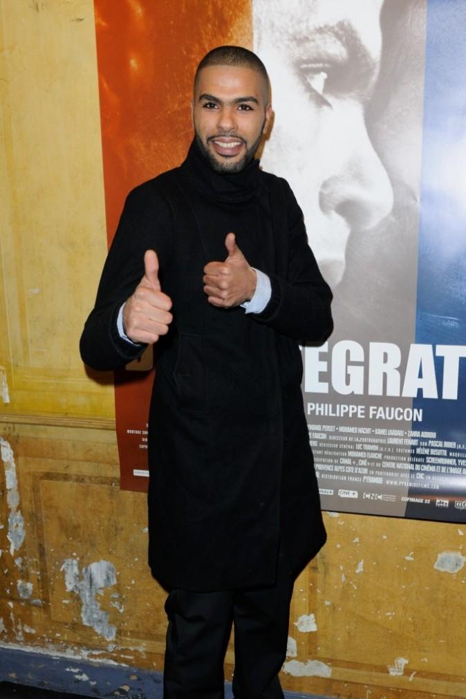 Rashid Debbouze lors de la première du film La Désintégration à Paris, le 8 février 2012.