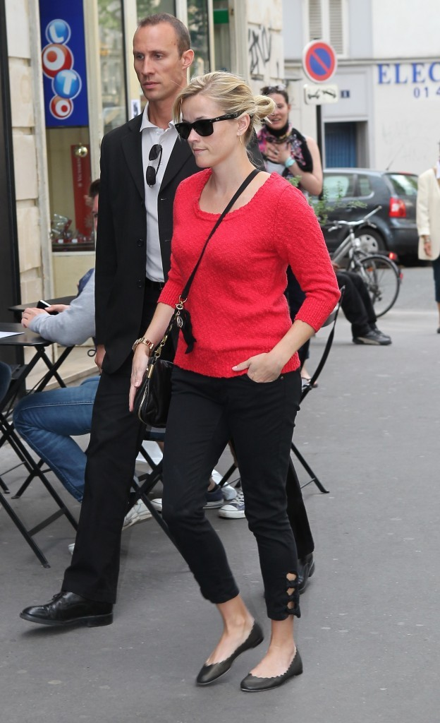 Reese Witherspoon à Paris, le 27 avril 2011.