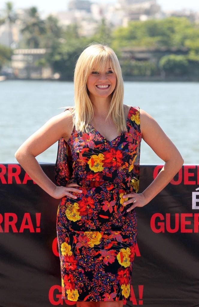 Reese Witherspoon lors de la promo du film Target à Rio, le 9 mars 2012.