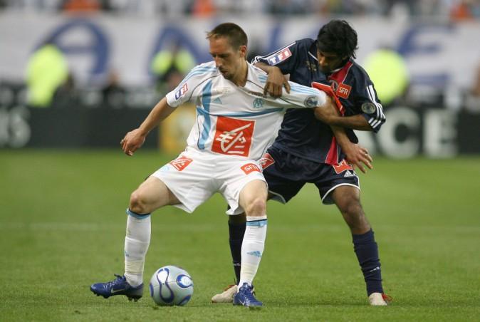 Franck Ribéry sous les couleurs de l'Olympique Marseille en 2006