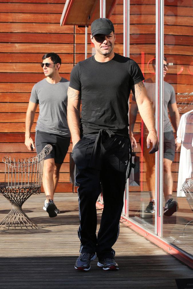Ricky Martin et son compagnon Jwan Yosef à West Hollywood