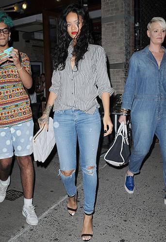 Rihanna à New York le 31 juillet 2014