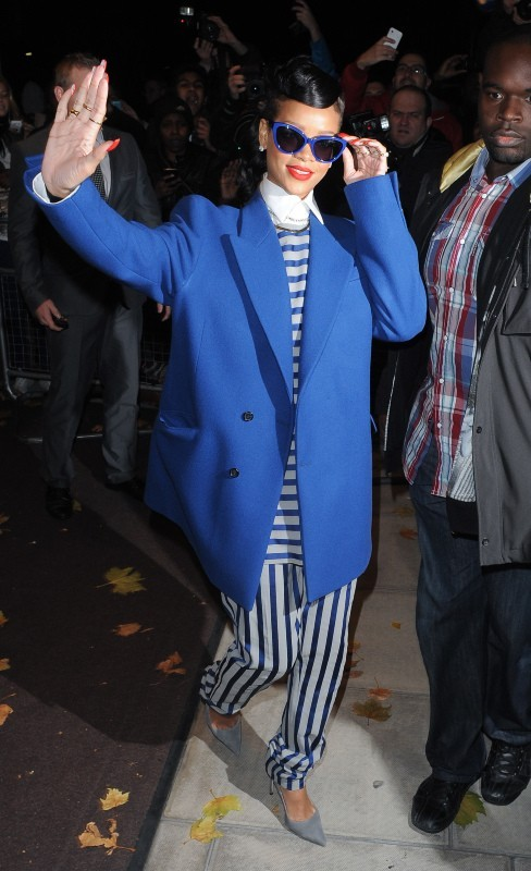 Rihanna, Londres, 19 novembre 2012.