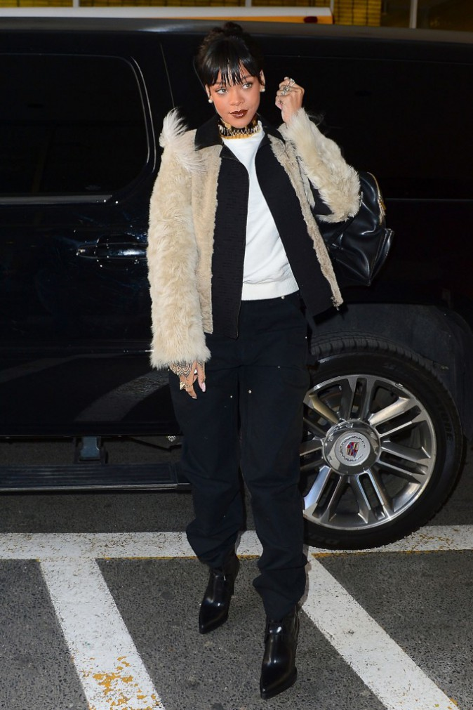 Rihanna à New-York le 18 mars 2014