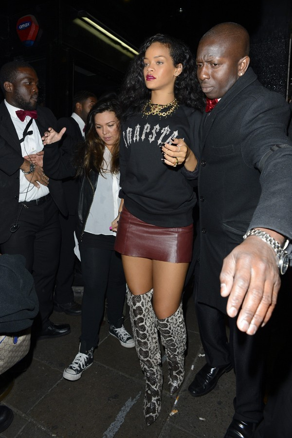 Rihanna à Londres le 30 août 2012