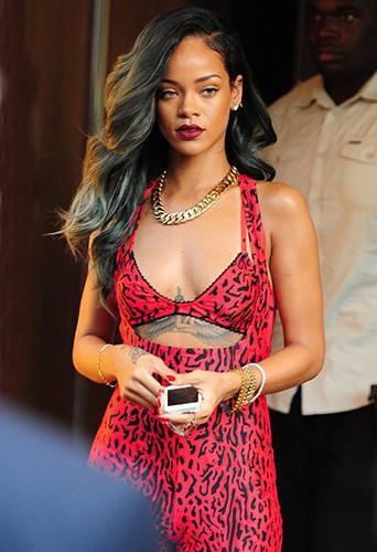Rihanna à Londres le 19 juillet 2013