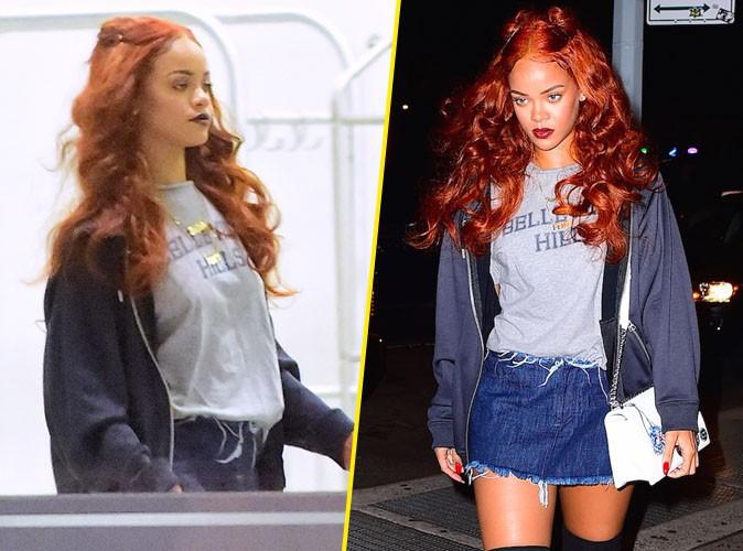 Photos : Rihanna : belle de nuit en mini jupe pour aller travailler !