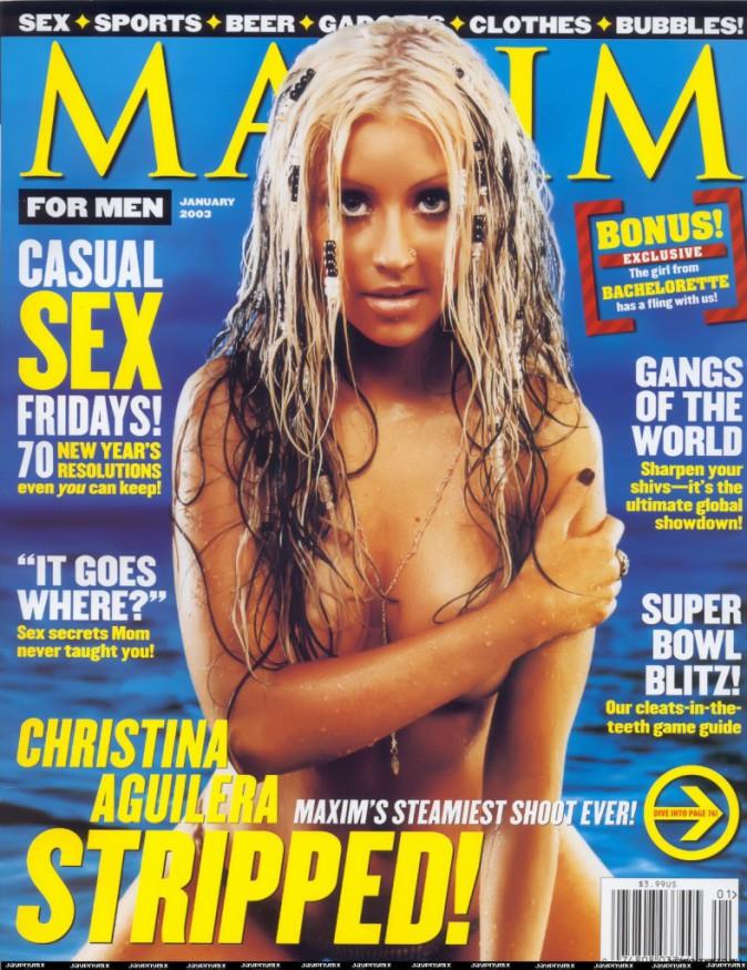Christina Aguilera pour Maxim janvier 2003