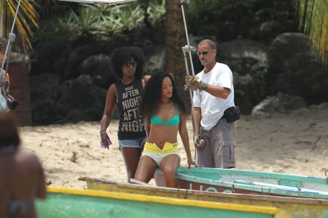 Rihanna shootée pour promouvoir la Barbade