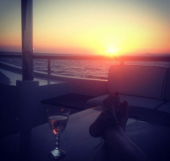 Joli coucher de soleil...