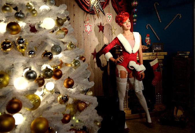Statue de cire de Rihanna au musée Madame Tussauds à Berlin
