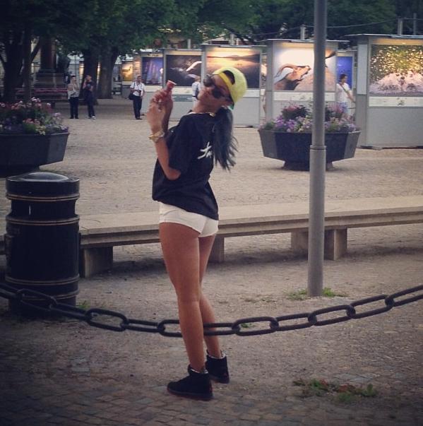 Rihanna à Stockholm le 21 juillet 2013