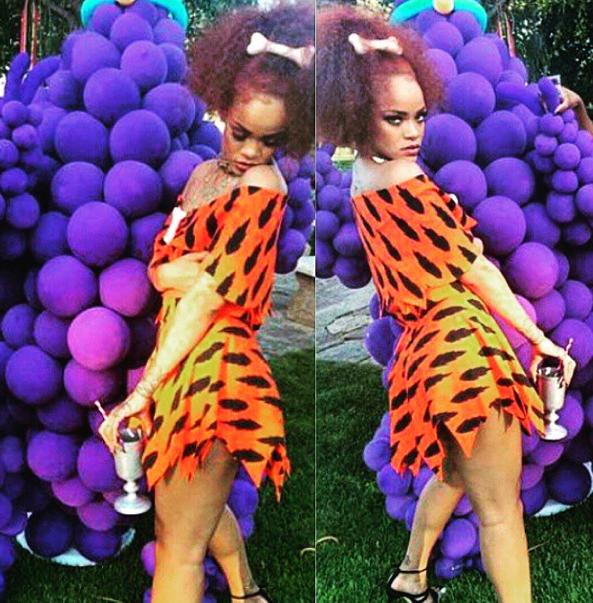 Photos : Rihanna : déchaînée et déguisée en Fred Pierrafeu pour l'anniversaire crazy de Majesty !