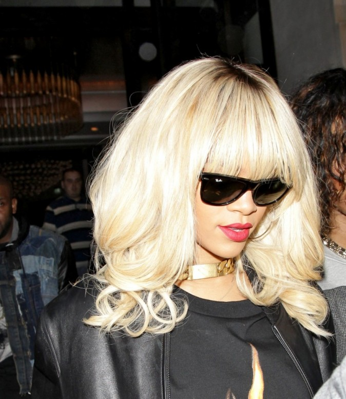 Rihanna à Londres, le 27 mars 2012.