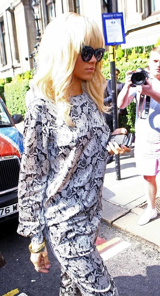 Rihanna à Londres, le 29 mars 2012.
