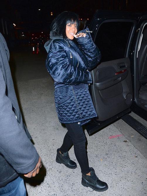 Rihanna à New-York le 12 décembre 2013