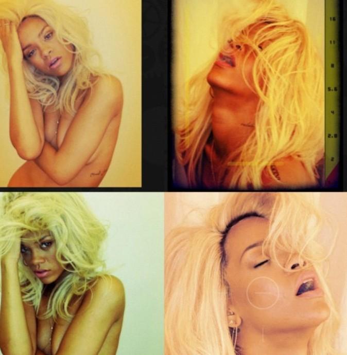 Rihanna sur le shooting de son nouveau parfum, Nude !