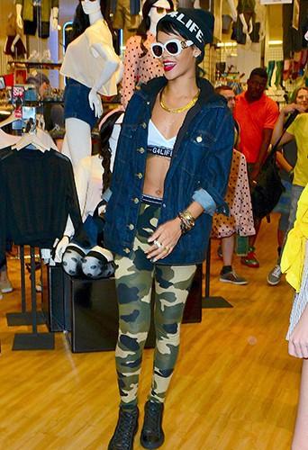 Rihanna à New-York le 19 août 2013