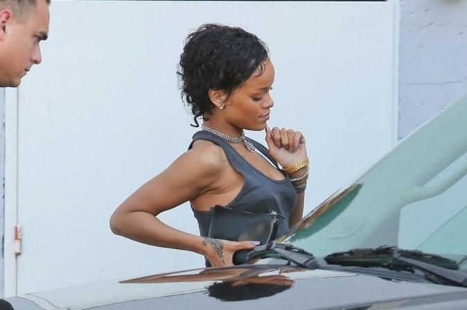 Rihanna à Los Angeles, le 1er août 2013.