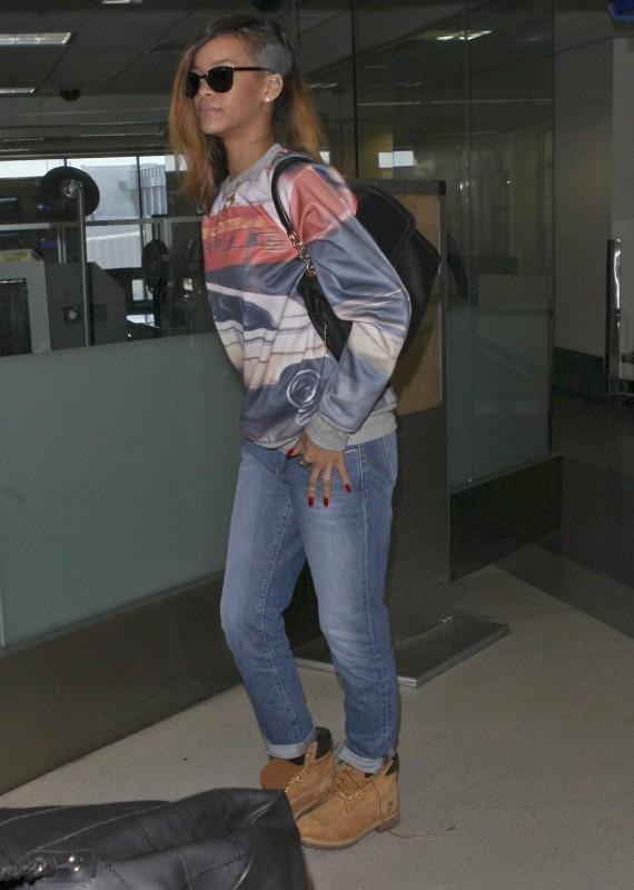 Rihanna le 31 janvier 2013 à Los Angeles