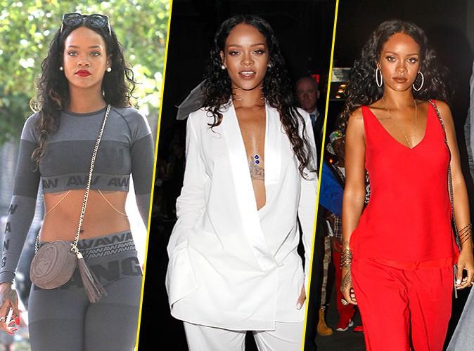 Rihanna : envo�tante, elle encha�ne les looks � New York !