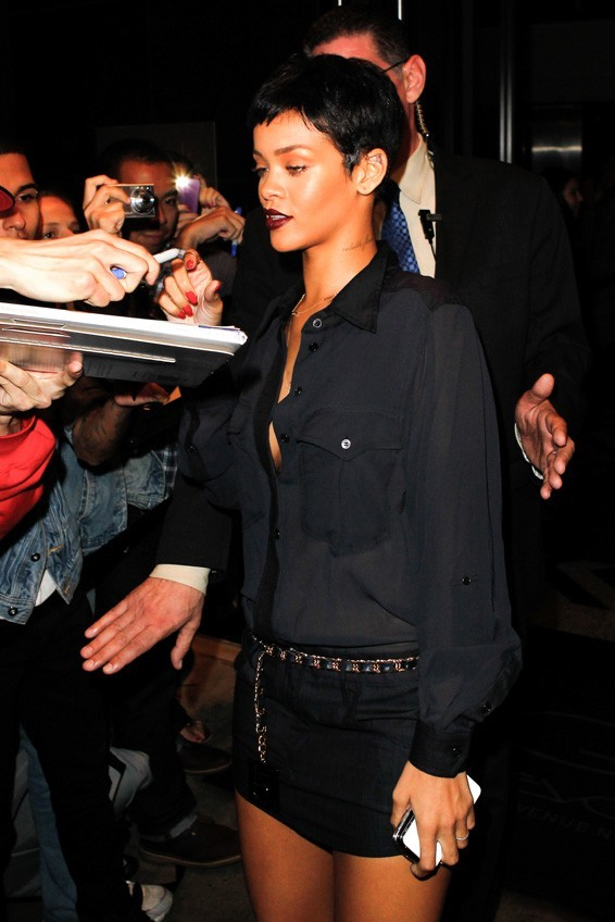 Rihanna à New-York le 3 octobre 2012