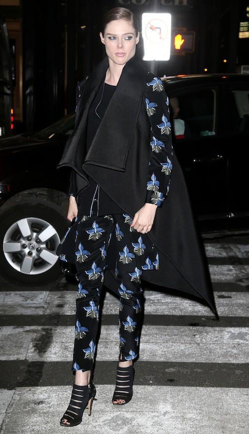 Coco Rocha à l'ouverture du flagship Fendi à New York, le 13 février 2015