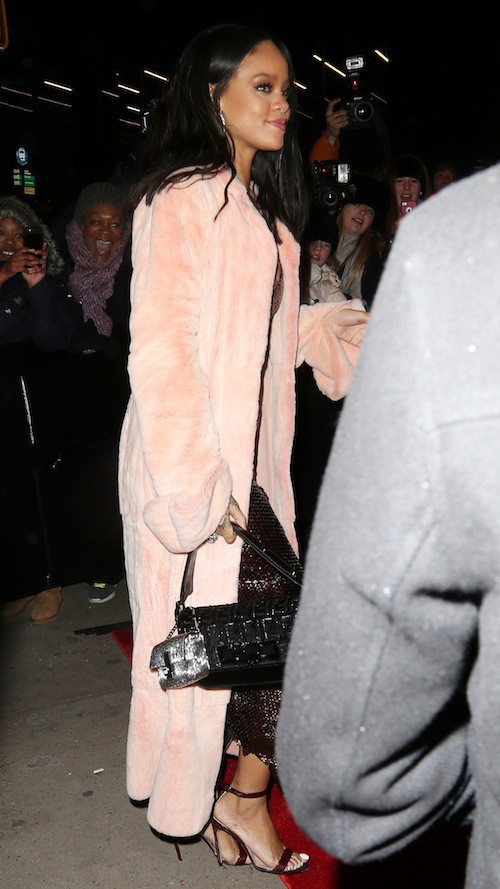 Rihanna à l'ouverture du flagship Fendi à New York, le 13 février 2015