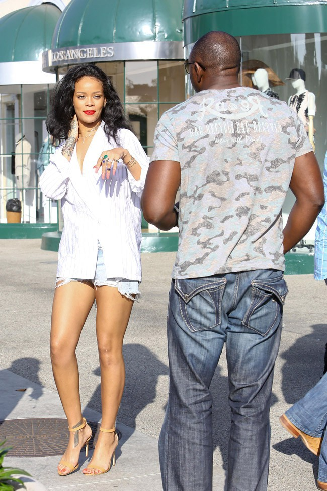 Rihanna à West Hollywood le 22 avril 2014