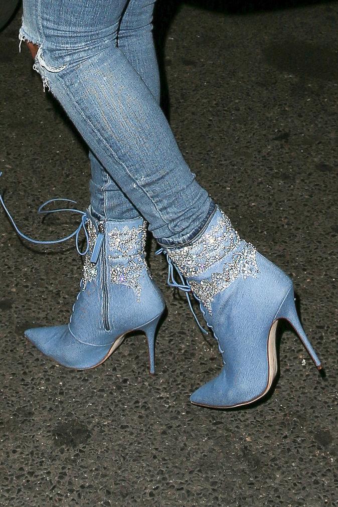 les botines de la collection Rihanna X Manolo