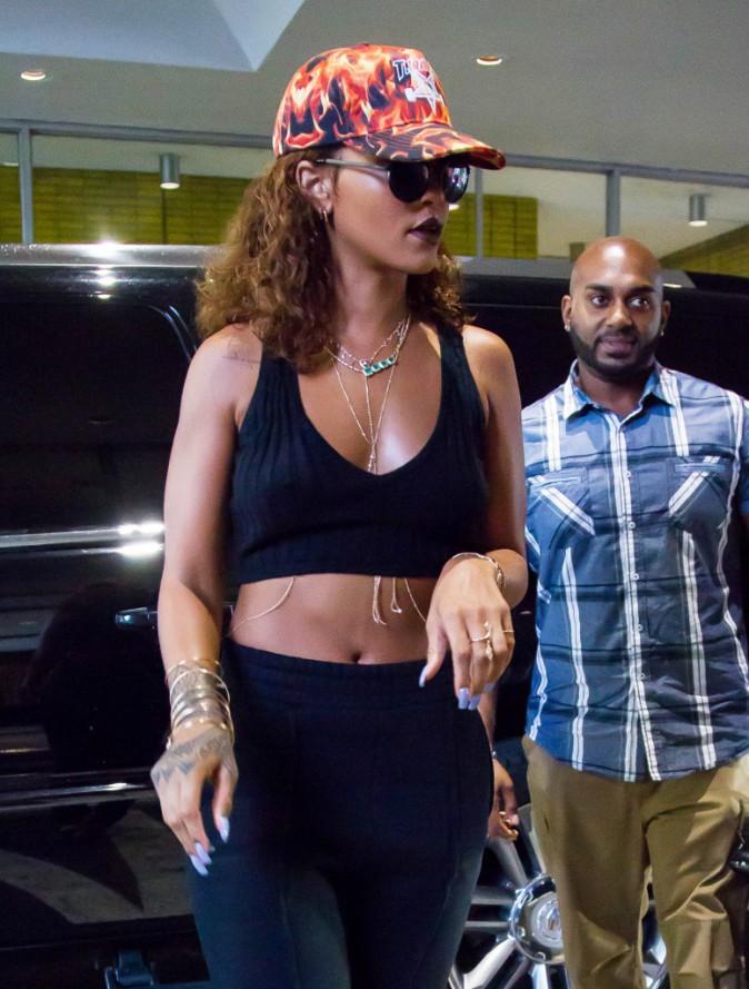 Rihanna à New York, le 10 août 2015