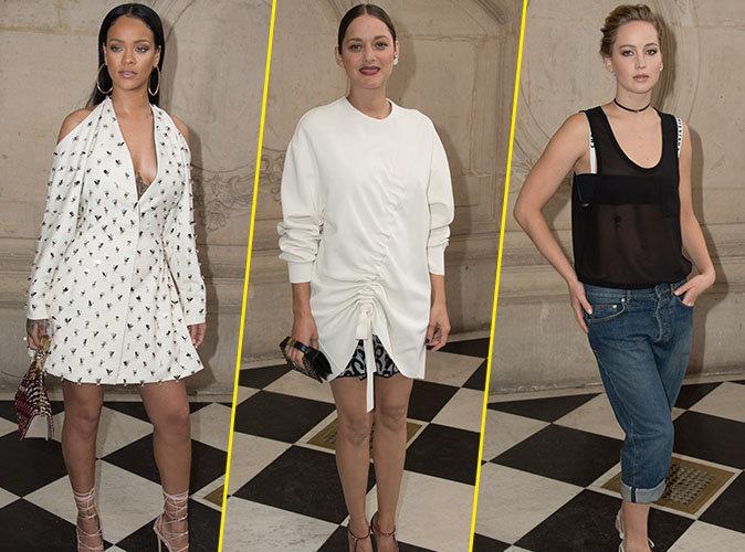 Photos : Rihanna, Marion Cotillard, Jennifer Lawrence... le défilé Dior, nouveau GQ des stars !