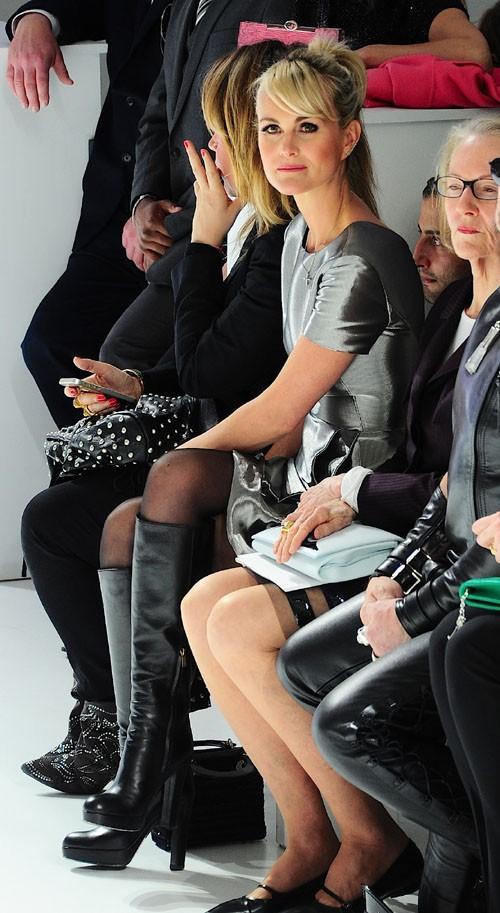 Laeticia Hallyday au défilé Dior organisé à New-York le 7 mai 2014