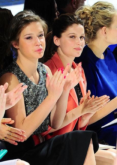 Laetitia Casta au défilé Dior organisé à New-York le 7 mai 2014