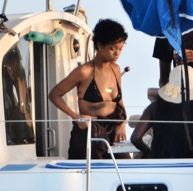 Rihanna à la Barbade le 9 août 2013